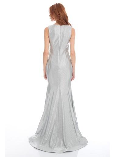 Pierre Cardin Uzun Abiye Elbise Gümüş